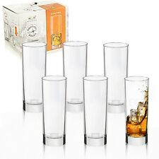 Bormioli Rocco Cortina 275ml Hi Ball Tall Dinner Tumblers Drinking Glasses Set