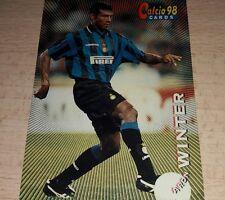 CARD CALCIATORI PANINI 98 INTER WINTER CALCIO FOOTBALL SOCCER ALBUM