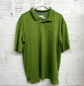 Columbia Sportswear Company Men's Size XXL Green Short Sleeve Polo Shirt