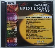 Sound Choice Karaoke Music 70's & 80's Country Vol 32 CD+G 8792 !!!RARE!!!