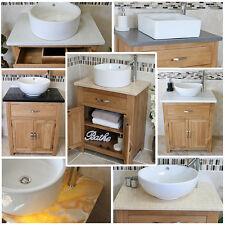 Solid Oak Bathroom Vanity Cabinet  | Oak Sink Bathroom Unit | Stone Worktop Inc