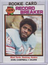 EARL CAMPBELL ROOKIE CARD 1979 Topps VINTAGE NFL RC Houston Oilers Football