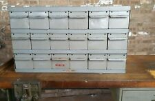 Real Equipto Usa 18 Drawers Unit Metal Parts Cabinet 17 Deep Mn 8561