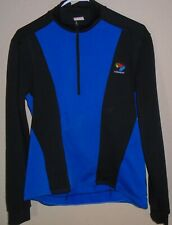 BELLWETHER mens Small cycling shirt Blue  long sleeve