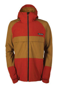 Bonfire Russell Snowboard Jacket, Men's Large, Red Rum-X / Driftwood Brown New