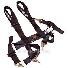 "Buddy Club Racing Spec 2"" 4 Point Seatbelt Seat Belt Harness Black Genuine JDM"