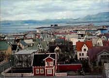 REYKJAVIK ISLAND Iceland Postkarte Postcard Town & Harbour, Hafen Häuser Partie