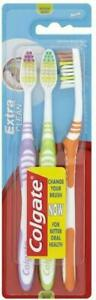 Colgate Palmolive Extra Clean Toothbrush Medium (Pack of 3) - FAST & FREE