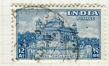 INDIA;  1949 early Pictorial issue fine used 12a. value