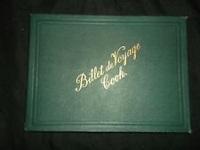 Billet de Voyage Cook 1891 - Train Chemins de Fer - Coupon