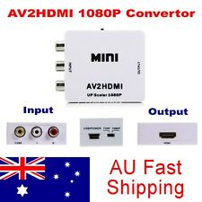 Av2hdmi Composite CVBS 3rca AV to HDMI Video Upscaling 1080p Converter Adapter