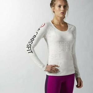Reebok Women's Performance CrossFit Burnout Long Sleeved Tee
