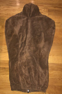 High Quality Zip Back Brown Sueade Leather Mannequin Form Cover MINT