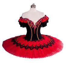 Classical Professional Ballet Tutu Spanish Red Black Kitri Don Quixote Pro Comp