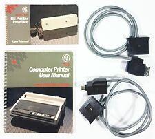 General Electric 1984 C64/ATARI Printer/Interface ANLEITUNG/KABEL MANUAL/CABLES