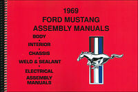 1969 Ford Mustang Assembly Manual set of 5 Books in 1 Volume
