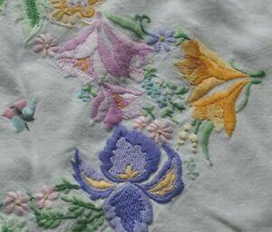 Vintage/Antique Hand Embroidered Dressing Table Runner