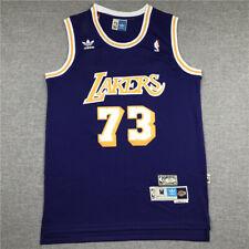 NWT Men's Dennis Rodman LA LAKERS Throwback Swingman Jersey Purple Size S-XXL