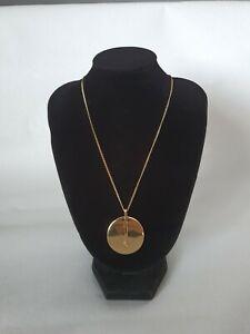 Pilgrim Signed Gold Tone Disc Necklace