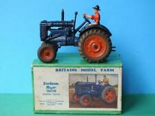 BRITAINS VINTAGE 1948 BOXED LEAD #128F FORDSON MAJOR FARM TRACTOR RUBBER TYRES
