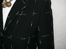 1934-38  VTG Black  Boucle LADY CHIC 2 pc. Suit Very 30`s Hollywood Set S