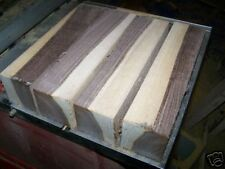 FOUR (4) MARBLED BLACK WALNUT TURNING LATHE BLOCKS WOOD LUMBER 3 X 3 X 12""