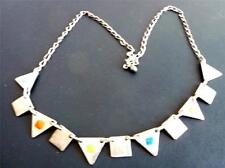 STERLING-NECKLACE W/TRIANGLES &SQUARES CHARMS - 925-20 gr  S-18