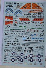 Xtradecal 1/72 X72180 Douglas A-4B Skyhawk Decal Set part 2