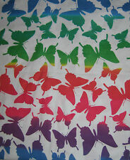 Wild BUTTERFLY Flannel Fabric Material BTY Red Blue Yellow Green New Cotton