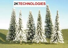 "Bachmann 32202 3 x 8"" - 10"" Pine Trees with Snow Covering 0 Gauge T48"