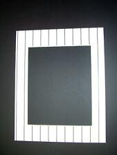 Picture Mat 11x14 for 8x10 photo Baseball uniform stripe white black set of 4