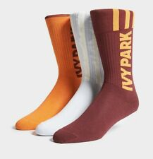Ivy Park X Adidas Logo socks orange Maroon White 3 pairs Beyonce - SMALL