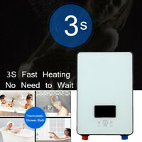 6500W Tankless Instant Electric Hot Water Heater Boiler Bathroom Shower 6.5KW
