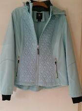 WOMAN'S JACKET LIGHT GREEN SIZE XL UK HOODED SOFTSHELL QUILTED HALIFAX TRADERS