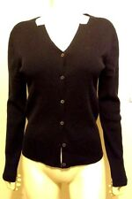 LIZ CLAIBORNE FITTED THIN KNIT LONG SLEEVES SILK BLEND CARDIGAN SWEATER SIZE M