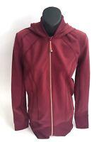 Lululemon Nice Asana Jacket Size 8 Burgundy Red Define NWOT