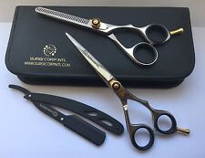 6 INCH PROFESSIONAL SALON HAIRDRESSING HAIR CUTTING THINNING BARBER SCISSORS SET