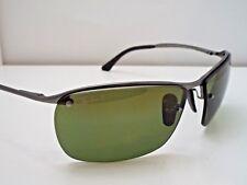 Authentic Ray-Ban RB 3544 029/6O Gunmetal Green Mirror Chromance Sunglasses $255