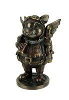 Steampunk Aviator Flying Pig Aeronaut Statue