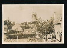 Netherlands Holland SLUIS Molen Windmill and houses c1920/30s? RP PPC