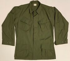 Original 1970 Poplin Rip-Stop Jungle Fatigue Shirt Medium Reg, Un-Issued