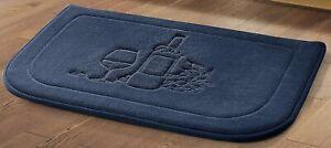 Kitchen Memory Foam Rug Non Slip Anti Fatigue Cushioned Mat Wine Navy