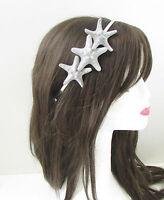 Silver Starfish Headband Beach Headpiece Hair Crown Little Mermaid Ariel Sea 259