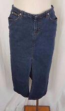 Calvin Klein Jeans Denim Blue Jean Midi Slit Long Skirt Womens 7 Straight Pencil