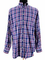 Peter Millar Mens Button Down Long Sleeve Plaid Check Shirt Dress Size Large