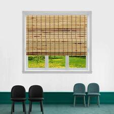 TJ GLOBAL Cordless Flatstick Bamboo Roman Window Blind Sun Shade, Light...