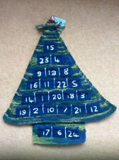 ADVENT CALENDAR - HAND KNIT TREE - new, with pockets for gifts
