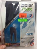 NEW Mens PolarMax Comp 4 Black Base Layer Bottom Heavy Weight Lined Pants USA
