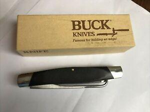 VERY CLEAN USED BUCK321 BIRDKNIFE - BLACK W ORIGINAL BOX