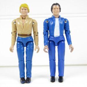 """BO & LUKE DUKE VARIANT A - THE DUKES OF HAZZARD VINTAGE 1981 MEGO 3.75"""" FIGURES"""